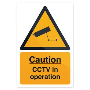 Fixman CCTV In Operation Sign 200 x 300mm Self Adhesive