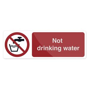 Fixman Not Drinking Water Sign 300 x 100mm Self Adhesive