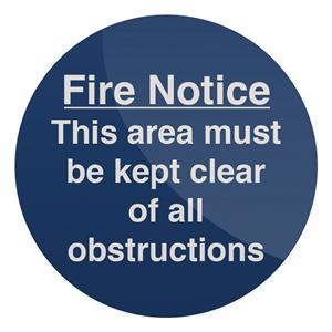 Fixman This Area Must Be Kept Clear Sign 150 x 150mm Rigid