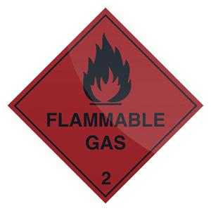 Fixman Flammable Gas Sign 100 x 100mm Self Adhesive