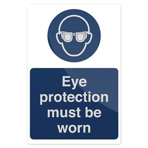 Fixman Eye Protection Must Be Worn Sign 200 x 300mm Rigid