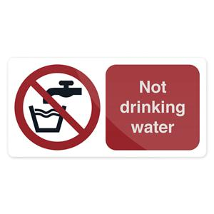 Fixman Not Drinking Water Sign 75 x 150mm Self Adhesive